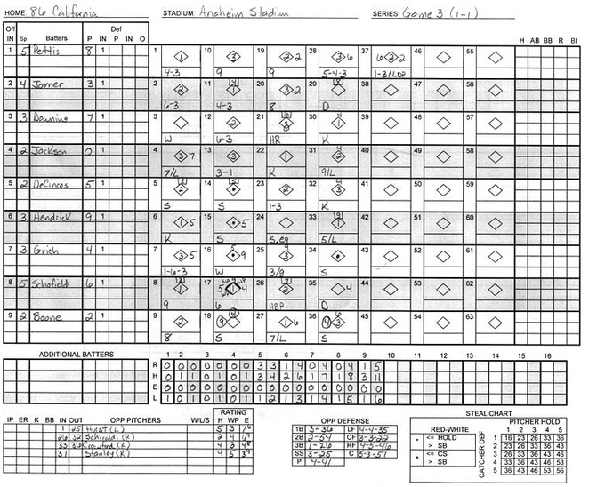 Scorecard Gallery - Baseball - Alex Reisner